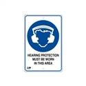 Pilot Sign - Hearing Protection - 300 x 450mm Polypropylene