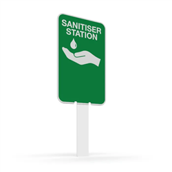 Pilot Sign - Hand Sanitiser Station - 200 x 125 x 1.4mm Polypropylene Pantone 375C