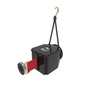 Retracta-belt magna-mount red belt with bungy including magnet body & clip - 7.6m