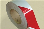 Reflective Tape 50mm x 5m Roll Class 1 - Red/White