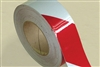Reflective Tape 50mm x 45m Roll Class 1- Red/White