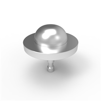 Skateboard Stud Stainless Steel - 30mm Dome &Stud Collar