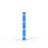 Skinz Bollard Sleeve with White Reflective Tape to suit up to 145mm Diameter, 1400mm High - Disability Blue