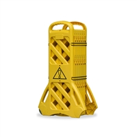 Mobile Expanding Portable Barrier - Mobile Expanding Safety Barrier ? Safety Yellow, Sold Per Each
