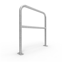 Double Rail Barrier System 1m Surface Mount U-bar - galvanised finish
