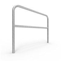 Double Rail Barrier System 1.5m Below Ground U-bar - galvanised finish