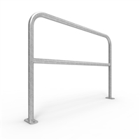 Double Rail Barrier System 1.5m Surface Mount U-bar - galvanised finish