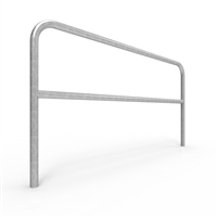 Double Rail Barrier System 2m Below Ground U-bar - galvanised finish