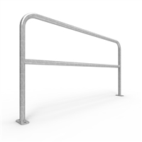 Double Rail Barrier System 2m Surface Mount U-bar - galvanised finish
