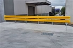 W-Beam Rail For Guard Fence (Type D) 3.5M Centres - Galvanised And Powder Coated Yellow