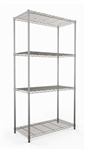 Modular Wire Shelf 355 X 1220mm - Zinc Plated And Clear Epoxy Powder Coat