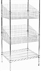 Modular Wire Shelving - Display Basket 530 X 610mm - Zinc Plated And Clear Epoxy Powder Coat