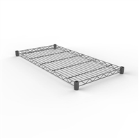 Modular Wire Shelf 530 X 1525mm - Zinc Plated And Clear Epoxy Powder Coat