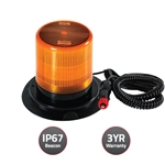 New Cyclone Nova Led Beacon W Magnetic Base & 3M. Cord To Cigarette Lighter Connection & Amber Lens