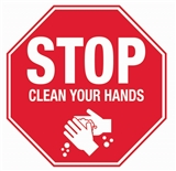 Stop - Clean Your Hands Floor Sign