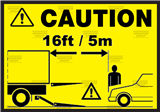 Caution - Keep clear of hydraulic tail lift sticker
