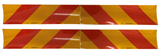 yellow red hazard stripe sticker for truck