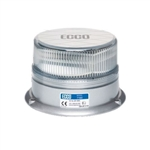 ECCO LED Beacon White LED / Clear Lens Permanent Mount Strobe 12-24v DC