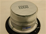 ECCO LED Beacon White LED / Clear Lens Vacuum/Magnetic Mount Strobe 12-24v DC
