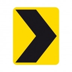 Chevron Alignment Marker sign 750x900mm