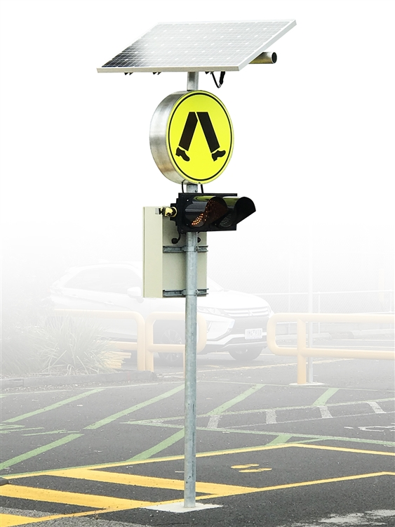 R3 2 Sign >> Superior Flashing Pedestrian Crossing Sign Led With Unbreakable Faces Solar