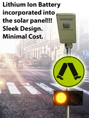 Solar Flashing 24/7 Pedestrian Crossing Sign Basic Kit LED
