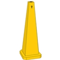 STD SAFETY CONE BLANK 89CM YEL