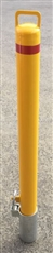 90mm Removable Steel Sleeve-Lok Bollard / Yellow Powder Coated