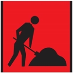 Workers Ahead (Symbolic Worker) WORKER DIGGING