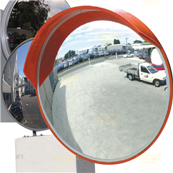 Convex Mirror - 450mm Outdoor (Wall & Post Mount Bracket Supplied)