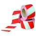 safety barrier barricade tape 72mm x 100m red white