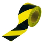 safety barrier barricade tape 72mm x 100m yellow black