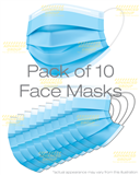 Pack of 10 Face Masks