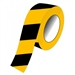 Aisle Marking Tape - Black/Yellow Stripes