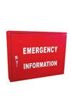 Emergency Information Cabinet with 003 Lock Fire Services Safety Essential