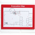 Evacuation Plan Holder with Red Border