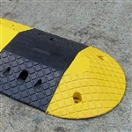Speed Busters - High Profile HD Rubber Speed Hump Black Speed Hump Body 250 X 400 X 70mm c/w cable channel 45x45mm