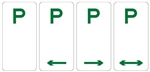 Parking Sign - P No Limit 225x450mm