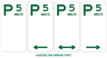 P5 5 minute Parking sign 225x450mm