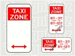 Taxi Zone Sign 225x450mm