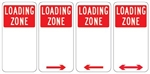 Loading Zone Sign 225x450mm