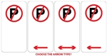 No Parking Sign 225x450mm