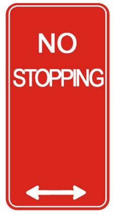 Image result for no stopping sign nsw