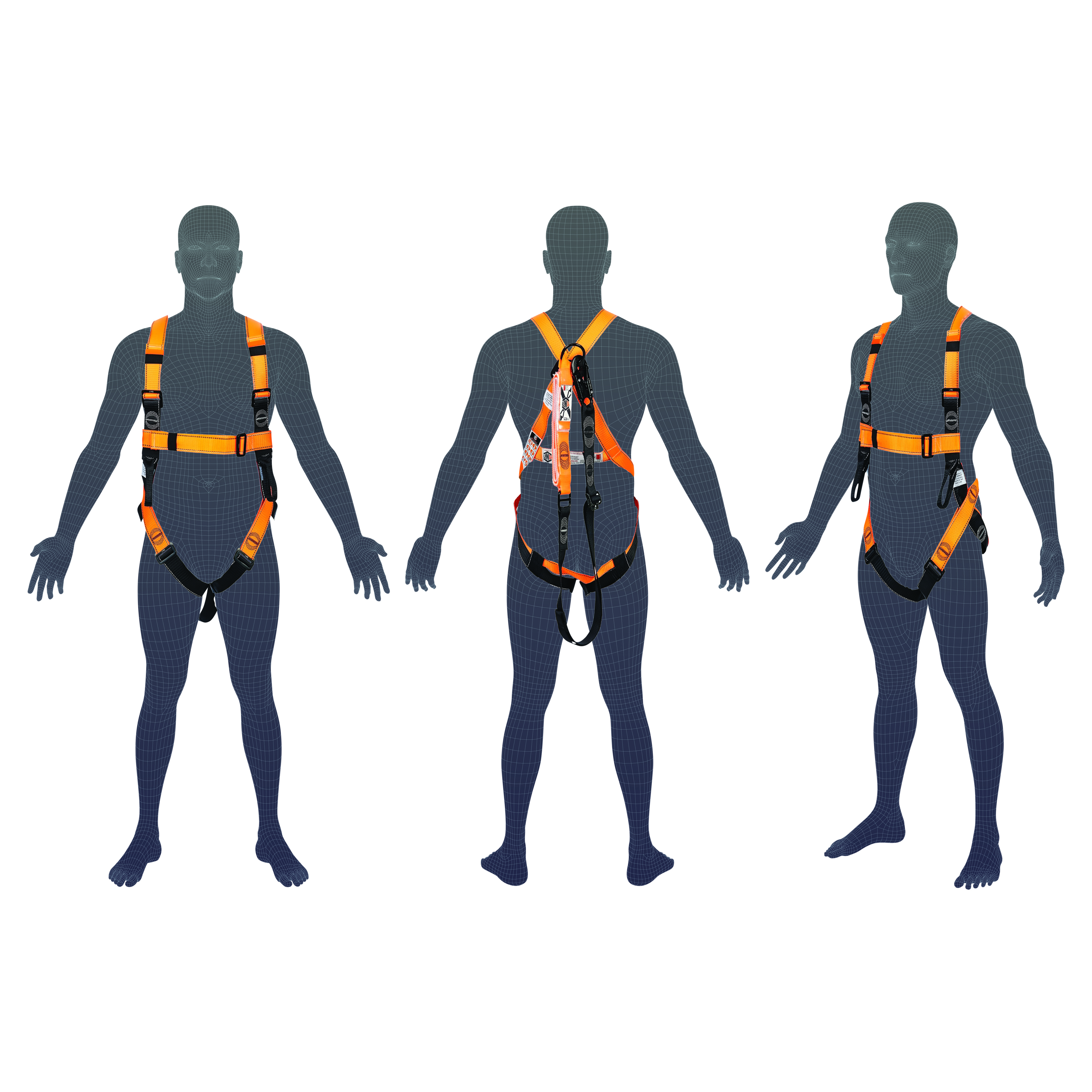 LINQ Essential Harness with Hardware SN & Permanently Attached 2.0M WLA120SN