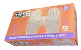 Clear Vinyl Gloves Size Extra Large Box 100