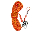 LINQ Kernmantle Rope Restraint Line - 15 Metre thimble eye c/w Rope Grab and Snap Hook 15m