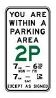 Internal Reminder of Parking Area Sign 450x800