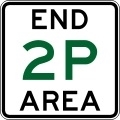 End Parking Restriction Area