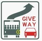 Give Way to Buses  (self adhesive)
