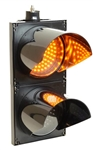 12v 200mm amber/amber vig-vag (pair of flashing lights)